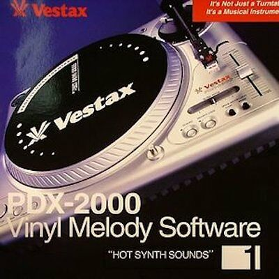 Vestax single notebook acquisition records Vinyl Melody Software Hot Synt... P/O