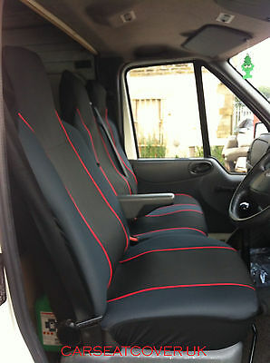 Ford Transit Mk 6 (00-06) HEAVY Duty RED Trim VAN Seat COVERS - Single + Double