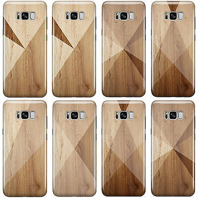 Dyefor Geometric Wood Collection Phone Case Cover For Samsung Galaxy Phones 2