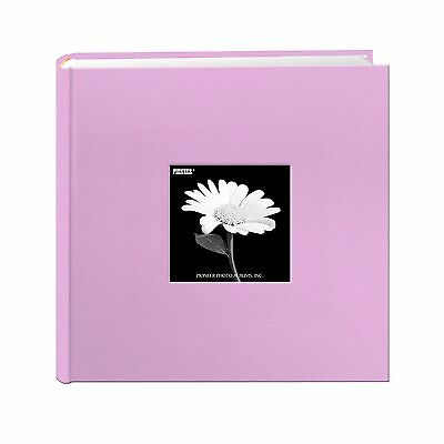 Fabric Frame Cover Photo Album 200 Pockets Hold 4x6 Photos Misty Lilac - NEW
