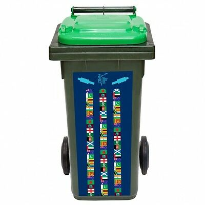 **Official Licensed ICC Cricket World Cup 2015 Wheelie Bin Sticker**