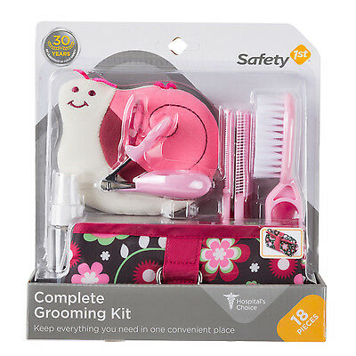 Safety 1st Complete Grooming Kit, Raspberry (18 Pieces)
