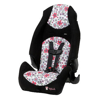 Disney Baby Highback 2-in-1 Booster Car Seat, Minnie Coral Flowers