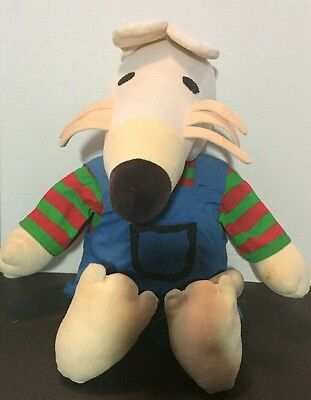 1996 LUCY COUSINS Plush MAISY MOUSE Crocodile Creek Stuffed Book Animal 14""