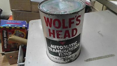 Wolf's Head Oilvintage Qt Of Transmission Oil