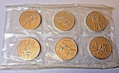 Russia 1993 1 oz Silver Bolshoi Ballet Mint Sheet of 6 coins Uncirculated Proof