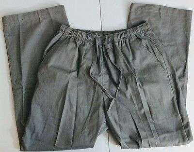 American Sweetheart Grey Scrub Pants 100% Cotton with Drawstring Sz SP Small P