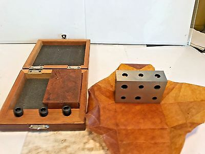 NEW One Pair Machinist 1 2 3 Precision Blocks, Wooden Case