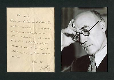 Andre Gide NOBEL PRIZE autograph, handwritten letter signed & mounted