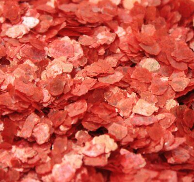 Mica Flakes - Bright Red - Natural Mica  - The Professionals Choice - 311-4367