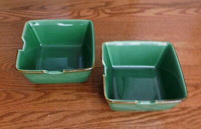 Pottery Barn Asian Noodle Bowls - Set of 2 Green