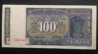 Scarce!! 100 Rupees India Sig.#   Nd Unc.