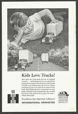Kids Love Trucks INTERNATIONAL HARVESTER 1961 Vintage Print Ad