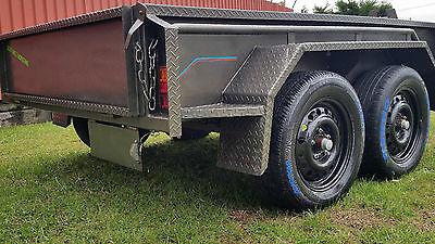 8x5 TANDEM TRAILER Removable Cage Heavy-Duty