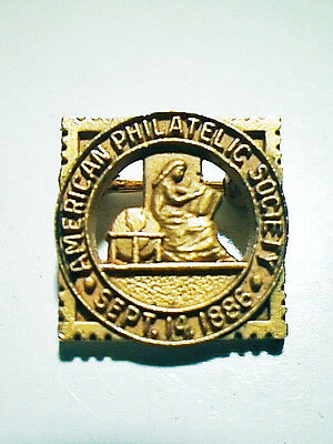 American Philatelic Society Pin Sept. 14, 1886 Mint Condition