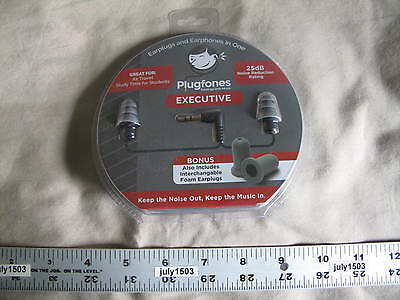 NEW Plugfones Ear Plug Headphones Ear Buds Contractor Executive Silicone EX-1