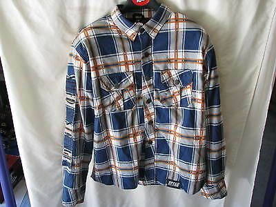 Speed And Strength Mens Rust & Redemption Armored Moto Shirt Blu/orn Xl 878941