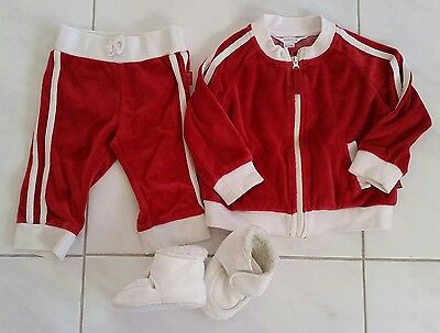 Pumpkin Patch baby boy or girl tracksuit set hoodie jacket pants size 0 6-12mths