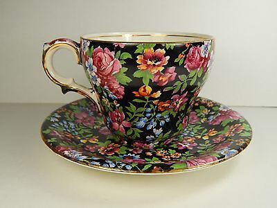 Royal Winton Grimwades Chelsea Tea Cup and Saucer. Floral Chintz. 1952