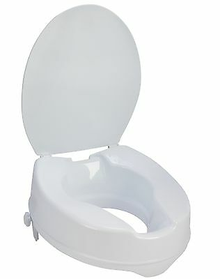Mle Raised Toilet Seat With Lid 4 Inch Raise, Easy To Attach - Making Life Easy