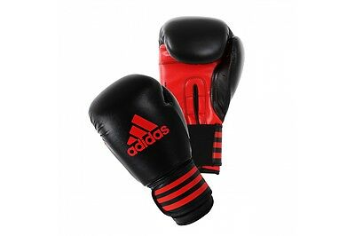 Adidas Power 100 Boxing Gloves Kids Sparring Black Red 6oz 8oz Childrens Adults