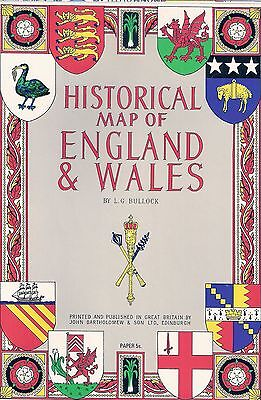 Historical Map of England & Wales by L.G. Bullock, J. Bartholomew & Son 1965