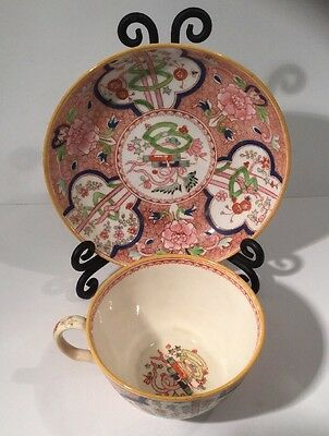 Late 18th Century Antique Ridgeway / Spode Dollar Pattern Tea Cup & Saucer (1)