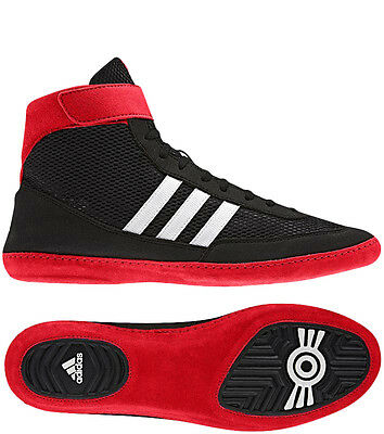 Adidas Combat Speed 4 Wrestling Shoe - Black/White/Red