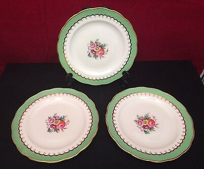 3 x George Jones & Sons,Crescent China Side Plates, Hand Painted & Gilded 1924 +
