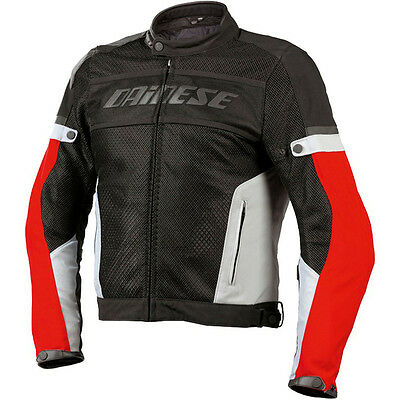 NEW DAINESE Air-Frame Tex Jacket SIZE EU 56 US 46 MENS Nero/High-Rise/Rosso