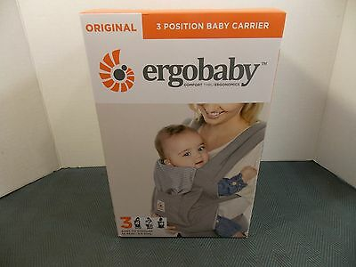 Ergobaby, Original 3 Position Baby Carrier (Misty Grey) 15-45 Lbs New Size 3
