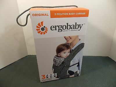 Ergobaby, Original 3 Position Baby Carrier (Black Twill) 15-45 Lbs New Size 3