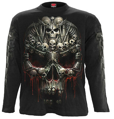 SPIRAL DIRECT DEATH BONES Long sleeve T-Shirt Death/Metal/Skull/Souls/Dark/Tees