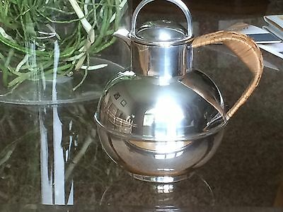 Vintage 1920s Barker Brothers EPNS Silver Plated Teapot Wicker Handle