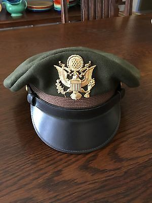 Wwii U.s. Military Officer Hat Repro Us Made---High Quality Item Ww2 Cap