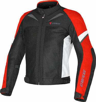 NEW DAINESE Air-3 Tex Jacket SIZE EU 56 US 46 MENS Nero/Rosso/Bianco