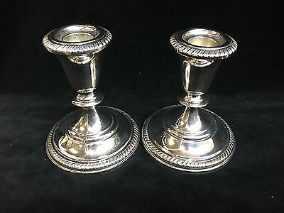 Vintage Fisher Sterling Silver Candle Sticks