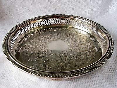 Silver tray Rogers tray Silver Plated tray Reticulated tray Serving tray
