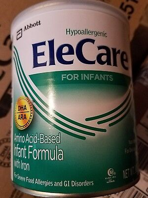 6 cans _ 14.1oz each can _ EleCare for Infants baby  with DHA/ARA Formula - NEW