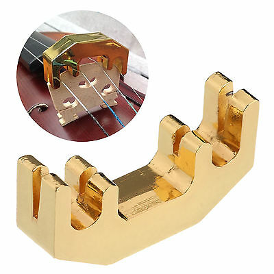 Metal 1/2 3/4 4/4 Violin Practice Mute Ultra Fiddle Silent Silencer Gold Plated