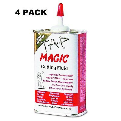 4x Tap Magic Cutting Fluid with EP-Xtra 10004E Power Tool Lubricant, 16 OZ TOTAL