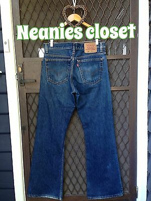 Vintage Flared Wide Leg Levis Jeans Button Fly Fit Beautifully Gorgeous Style