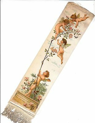 "Silk Bookmarker Ribbon - Little Angels (""Putti"") colour printed"