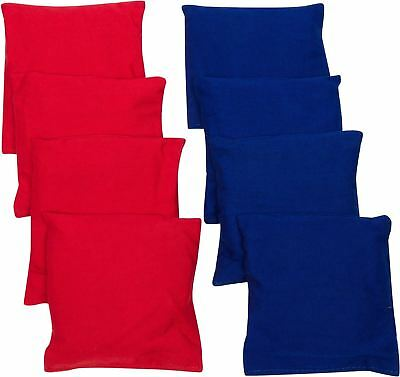 Trademark Innovations 4-Inch Starter Set Cornhole Bean Bags Set of 8 Red and ...
