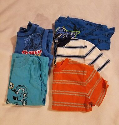 Toddler Boys Size 5T Summer Lot of 5 Shirts