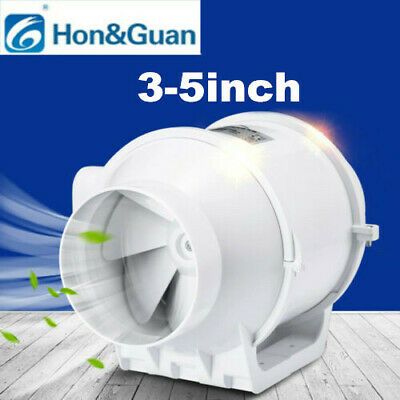 """3""""-5""""  Duct Fan Hydroponic Bathroom Grow Wet Extractor Booster Vetilation Blower"""