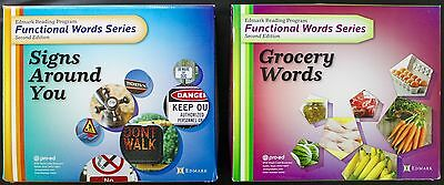 Edmark Reading Program Functional Words Series  Signs Around You & Grocery Words