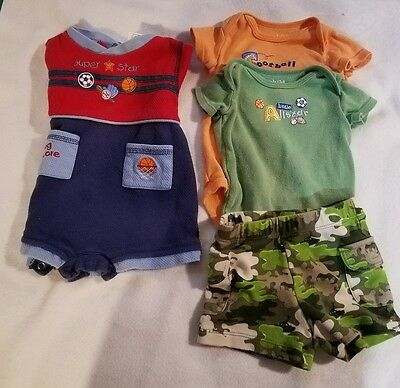 Infant Boys Size 0-3 months/3-6 months Summer Lot of 4