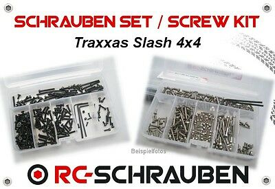 Screw Set for the Traxxas Slash 4x4 - Stainless Steel & Steel - ISK & IS