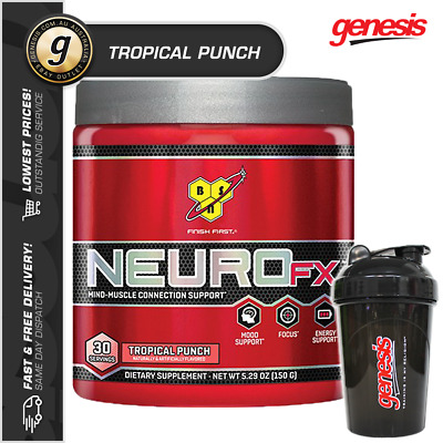 BSN Neuro FX - * 30 SRV TROPICAL PUNCH* Mental Focus Mood Support + FREE Gift!